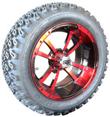 """""""Storm Trooper"""" - 14"""" Black/Red Lifted Tire and Wheel Combo"""