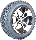 """""""Storm Trooper"""" - 14"""" Black/White Lifted Tire and Wheel Combo"""