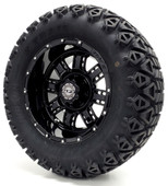 "Madjax 12"" Transformer Black Wheels with Lifted Tire Options Combo"