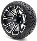 """12"""" GTW Voyager SS Machine/Matte Black Wheel/Rim and Tire Combo"""