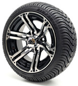"12"" GTW Specter SS Machine Black Wheel/Rim and Tire Combo"
