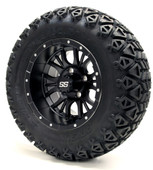 "12"" GTW Diesel Matte Black Wheels plus X-Trail Tires"