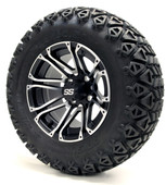 """12"""" GTW Voyager SS Machince Black Wheels Combo - Choose the Lift Kit"""