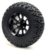 "12"" GTW Clutch Matte Black Wheels plus X-Trail Tires"