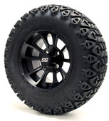 "12"" GTW Clutch Matte Black Wheels Combo - Choose the Lift Kit"