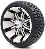 """12"""" Tempest SS White and Black Wheel and Tire Combo"""