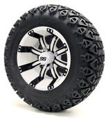 """12"""" Tempest SS White/Black Wheels Combo - Choose the Lift Kit"""