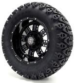"Madjax 12"" Black Transformer Wheels Combo - Choose the Lifted Tires and Lift Kit"