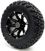 """Madjax 12""""  Black Element Wheels Combo - Choose the Lifted Tires and Lift Kit"""