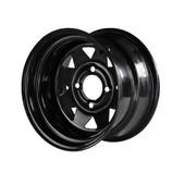 """Madjax 12""""  Black Steel Wheels Combo - Choose the Lifted Tires and Lift Kit"""