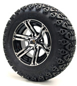"12"" Specter SS Machined Black Wheels with Lifted Tire Options Combo"