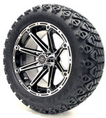 "Madjax 14"" Machined Black Element  Wheels Combo - Choose the Lifted Tires and Lift Kit"