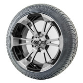 """14"""" RHOX RX340 Machined Wheels and LowPro Tires Combo"""