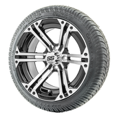 """14"""" RHOX RX353 Machined Wheels and LowPro Tires Combo"""