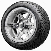"""12"""" RHOX RX251 Machined Wheels and LowPro Tires Combo"""