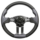 Aviator 5 Carbon Fiber Grip/Black Spokes Steering Wheel