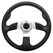Formula GT Black Grip/Brushed Aluminum Steering Wheel
