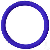 Rubber Steering Wheel Cover - Blue