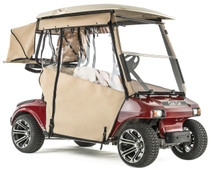 """PRO-TOURING"" 3-Sided Sunbrella Track Style Golf Cart Enclosure for Club Car DS 2000 1/2-up  (Choose Color)"