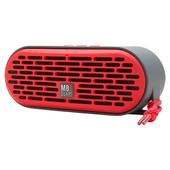 QUB Three Dual Driver Wireless Bluetooth Speaker in Red