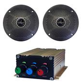 "Bluetooth Audio Package with 75 Watt Amp and 5"" Speaker Set"