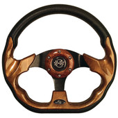 "GTW Race Woodgrain 12.5"" Golf Cart Steering Wheel"