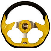 "GTW Race Yellow 12.5"" Golf Cart Steering Wheel"