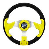 """Madjax Razor Yellow 13"""" Golf Cart Steering Wheel"""