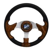 """Madjax Razor Woodgrain 13"""" Golf Cart Steering Wheel"""