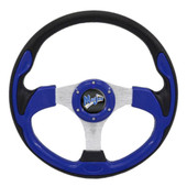 "Madjax Ultra II Blue 13"" Golf Cart Steering Wheel"
