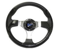 "Madjax Ultra II Black 13"" Golf Cart Steering Wheel"