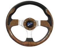 """Madjax Ultra II Woodgrain 13"""" Golf Cart Steering Wheel"""