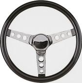 """Grant 3-Spoke Chrome 13.5"""" Golf Cart Steering Wheel"""