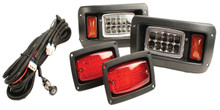 GTW Adjustable LED Light Kit For Club Car DS (Fits 1993-Up)