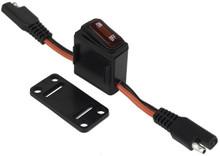 Bazooka LED Back-Lighted Inline Switch 16 Amp 12V SAE Plug