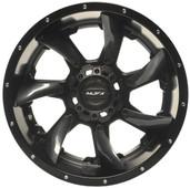 "12""x7"" MJFX Blackhawk Carbon Fiber Insert Golf Cart Wheels (Set of 4)"