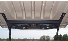 RHOX EZGO RXV Powder Coated Aluminum Plug & Play Overhead Audio Console w/ Bluetooth Amp & Speakers