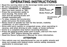 Warning Label Decal for Yamaha (G8-G22)