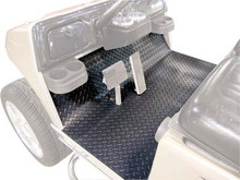 Black Diamond Plate Floor Mat for Club Car Precedent (2004-Up)