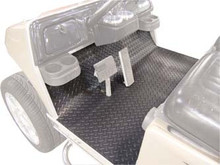 Grey Diamond Plate Floor Mat Cover for EZGO TXT/Medalist (2001.5-Up)