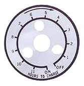 Club Car 12 Hour Timer Decal for Lestermatic Chargers