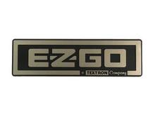 EZGO 2008-Up TXT Gold/Black Name Plate