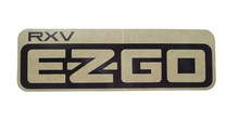 EZGO 2008-Up RXV Golf Cart Name Plate