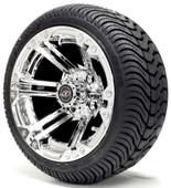 Madjax 12'' Chrome Nitro Wheels with Street Low Profile Tire Options Combo