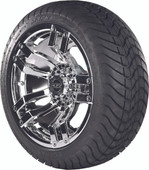 "Madjax 14"" Velocity Chrome Wheels with Street Low Profile Tire Options Combo"