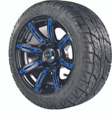 """Madjax 12"""" Illusion Wheels with Street Low Profile Tire Options Combo (Choose the Color Insert)"""