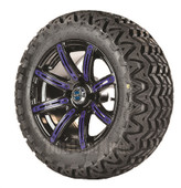 """Madjax 14"""" Illusion Wheels with Lifted Tire Options Combo (Choose the Color Insert)"""