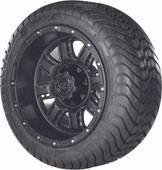 """Madjax 12"""" Transformer Matte Black Wheels with Street Low Profile Tire Options Combo"""
