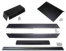 Club Car DS (Black) Diamond Plate Accessory Kit w/ Full Rockers 82-up