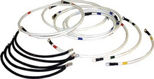 """Club Car PowerDrive Ds """"Beefed Up"""" Battery Cable Set - (4 Gauge) 48 Volt 1995-up"""